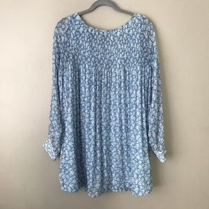 UO Kimchi Blue floral open back shift dress